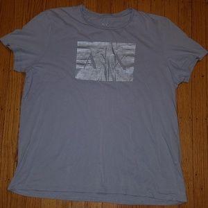 ARMANI EXCHANGE A|X Gray Graphic T-Shirt | 2XL